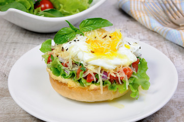 Bun with egg