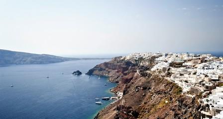 beautiful views of the island of Santorini