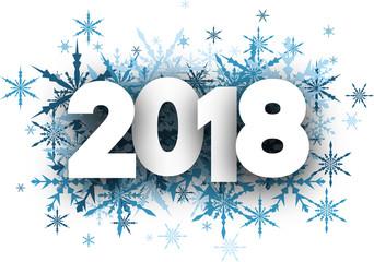 Winter 2018 New Year background.