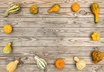 Pumpkin wooden texture Autumn background Thanksgiving