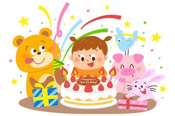 誕生日 お祝い 女の子 動物