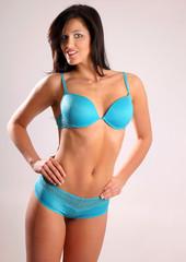 Fitness Brunette Wearing undies