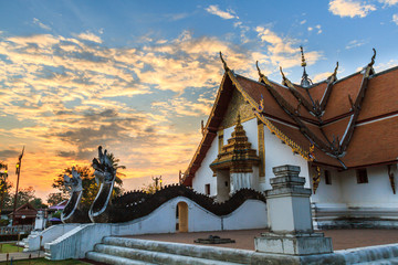Aluminium Prints Monument Wat Phumin, Muang District, Nan Province, Thailand. Temple is a public place.Created over 100 years old.