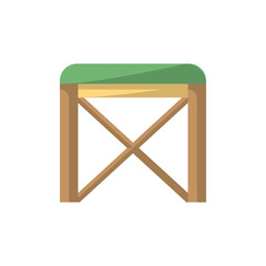 Chair isolated icon in flat style
