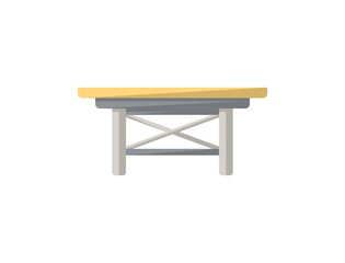 Small table isolated icon in flat style