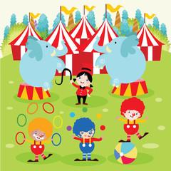 Circus Cartoon Vector Illustration