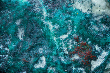 Cyan mineral macro texture, nature NS CIENCE BACKGROUND.