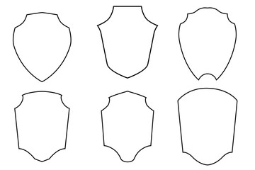 Template Element Design for your Logo, Emblem or Badge Community, Group, Team, Club, etc. Isolated on White