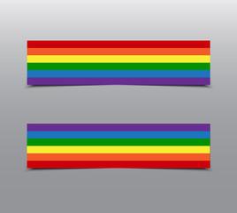 LGBT Pride Rainbow Stickers, Tag, Label, Card