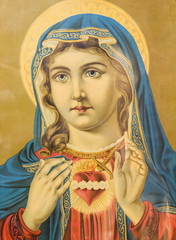 Religious picture of the Virgin Mary.