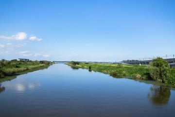 Foto op Aluminium Rivier 川岸の風景