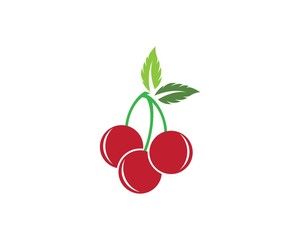 Cherry logo template