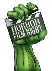 Horror Film Night Zombie Monster Clapper Board