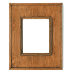 Vintage picture frame, wood plated,
