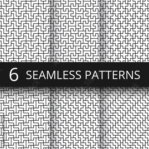 Funky Memphis Seamless Vector Patterns 80s And 90s School Fashion