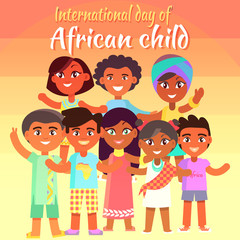 International Day of African Child Bright Poster