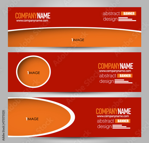 banner template abstract background for design business education