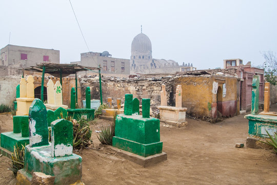 City of the dead (old muslim cemetery) in cairo egypt.