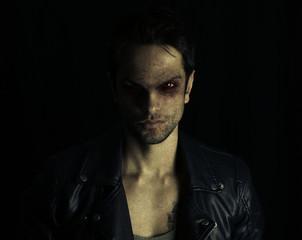 dark vampire posing
