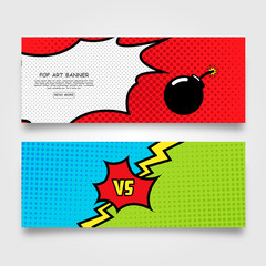 Pop art banner template