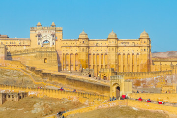 Poster Vestingwerk Amer Fort, Rajasthan