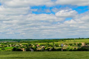 View on village in Ukraine