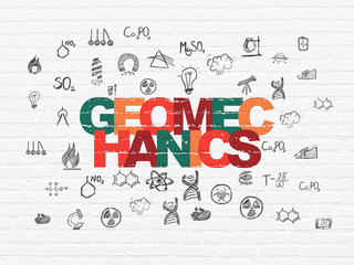 Science concept: Geomechanics on wall background