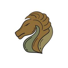 animal head  horse brown