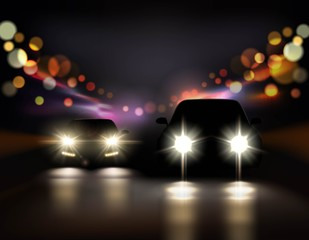 Night Ride Cars Composition