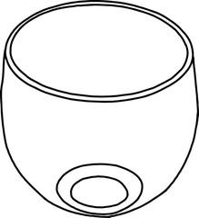 Glass goblet Sketch doodle