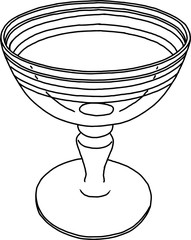 Glass vase Sketch doodle