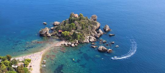 Isola Bella - Taormine (Taormina) / Sicily - Italy Fototapete