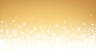 Festive winter gold background