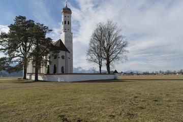 Wallfahrtskirche St. Coloman bei Schwangau, Allgäu, Bayern