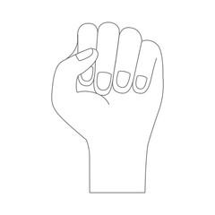 hand fist icon monochrome silhouette