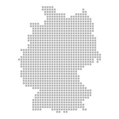 Deutschland-Karte aus Quadraten