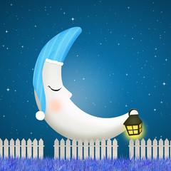 moon with nightcap