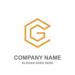 G Letter Geometric Hexagon Logo Vector Icon