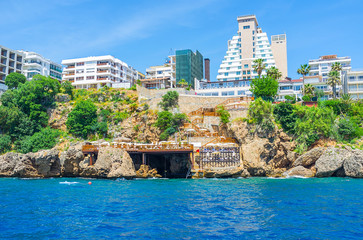 The modern hotels of Antalya