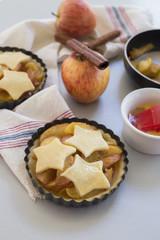 Homemade apple pie in kitchen