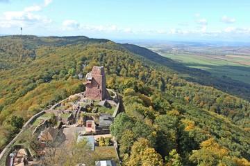 Blick vom Kyffhäuserdenkmal auf die Oberburg