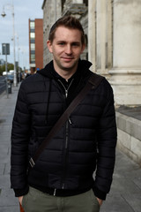 Austrian lawyer, Max Schrems arrives at the Four Courts building in Dublin