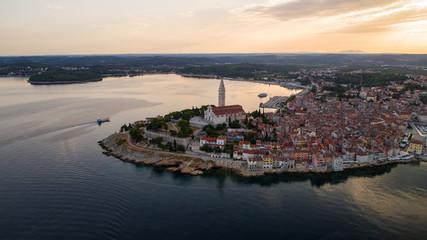 Aerial view of a Rovinj, Croatia