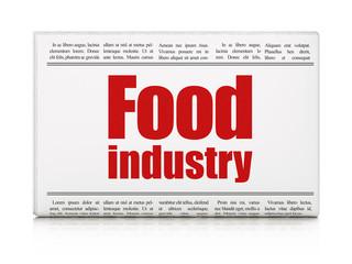 Manufacuring concept: newspaper headline Food Industry