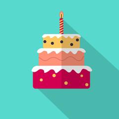 Geburtstagstorte Torte Flat Icon
