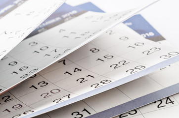 Months and dates shown on a calendar.