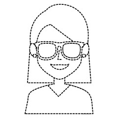 beautiful woman with glasses avatar character
