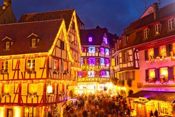 Weihnachtsmarkt in Colmar, Frankreich