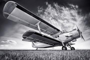 biplane against a sky