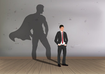 héros - super-héros - rêve - homme - pouvoir -réussite - succès